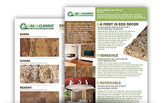 Cork Wall Tile Spec Sheet