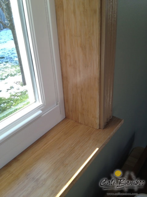 Bamboo window frame