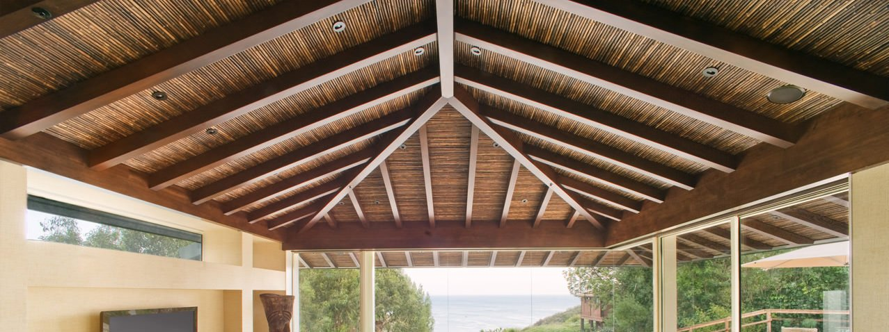 Bamboo Ceiling - Get an Island Decor with Natural Bamboo Fencing