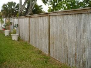 Weathered Bamboo Fence:
