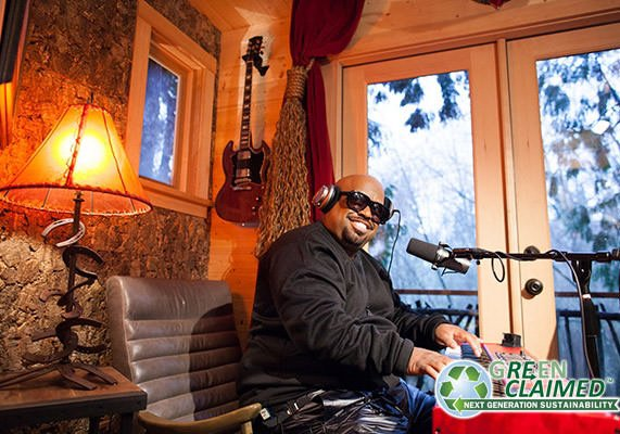 Cee Lo Green with Cork Wall Tiles in Studio
