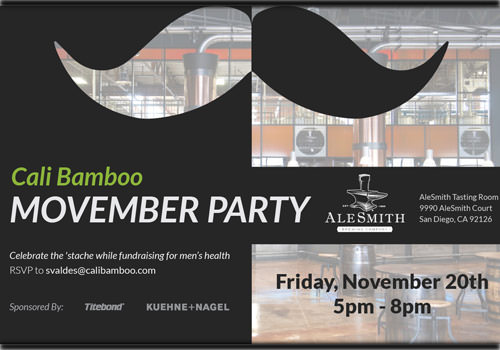 SAVE THE DATE: Cali Bamboo Movember Mo Party 2015