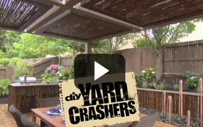 "Bamboo Pergola in Yard Crashers ""Bamboo Haven"" Episode"