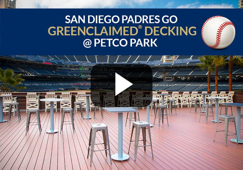 San Diego Padres Go GreenClaimed® Composite Decking @ Petco Park