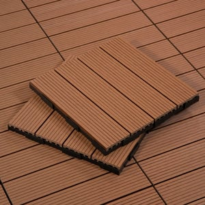 Shop Caramel Outdoor Deck Tiles