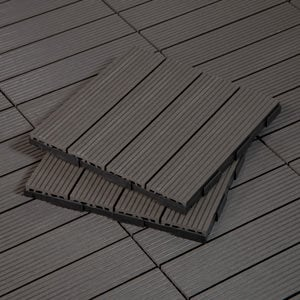 Shop Charcoal Outdoor Deck Tiles
