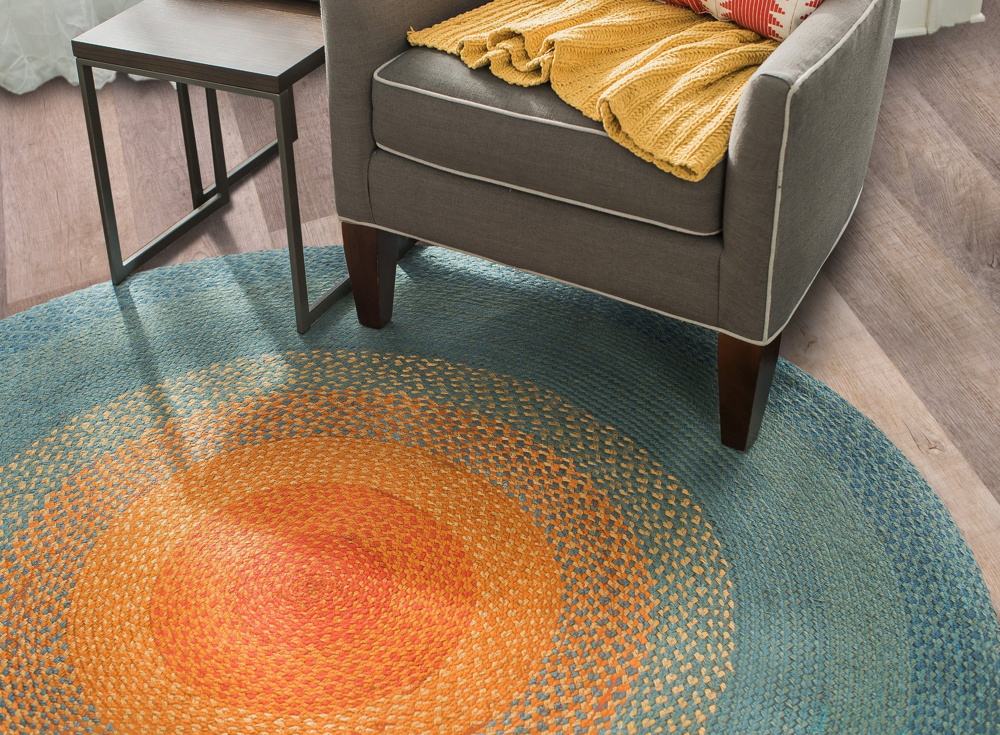 braided round area rugs