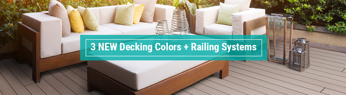 new deck railing systems and colors launch