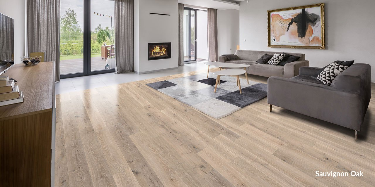 engineered oak flooring in family room