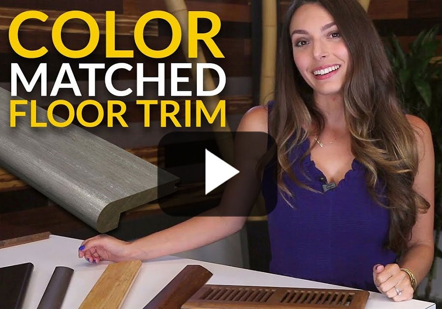 Color Matched Trim Finishes the Floor