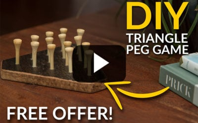Make a DIY Peg Game from Floor Sample