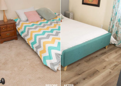 Cali Bedroom Before and After