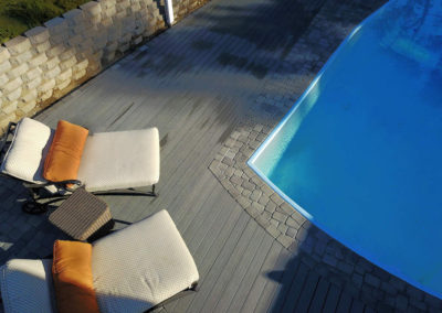 TruOrganics Composite Decking with pool