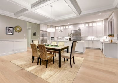 Apollo maple engineered floor in the dining room