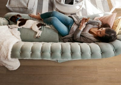 Canyon oak couch