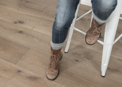 Caramel valley wood floor with stool