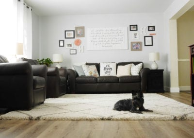 Natural Elm in the living room - One Project Closer