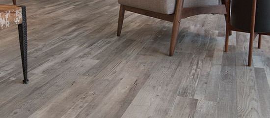 Cali Plus vinyl flooring is great for residential spaces due to its insulating properties and soft cork backing.