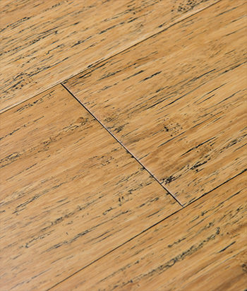 Sample - Distressed Natural Fossilized® Wide Click Bamboo Flooring